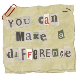 you can make a difference pic